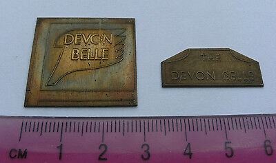 Model Railway Brass Nameplate The Devon Belle (2)