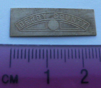 Model Railway Brass Nameplate Derby County