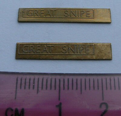 Model Railway Brass Nameplate Great Snipe (Pair)