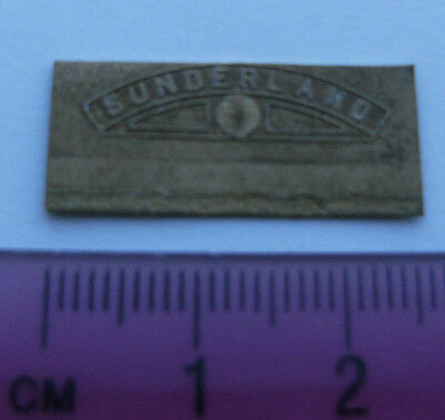 Model Railway Brass Nameplate Sunderland