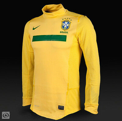 Brand New Brasil Long Sleeve Home Authentic Jersey Size Xxl