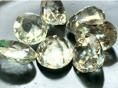 6 Pcs Green Amethyst Cabochon Lot, Oval Faceted Calibrated Amethyst, Cabochons