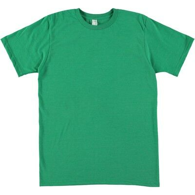 15 units of Plain Green Heather Anvil Sustainable Poly Cotton Ringspun T Shirts