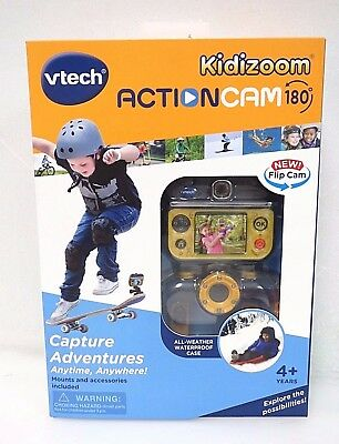 VTech Kidizoom Action Cam Camera 180 Yellow Black 80-507000 NEW