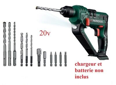 Perceuse a Percussion 20v Batterie Parkside X20V TEAM compatible avec 9 OUTILS