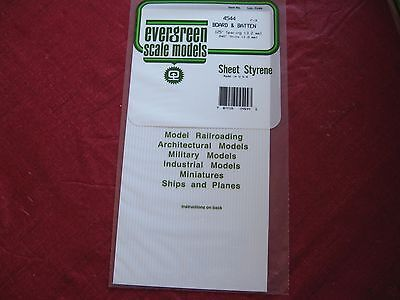"""1 Sheet of Styrene Board&Batten siding125"""" spacing .040 thick by Evergreen #4544"""