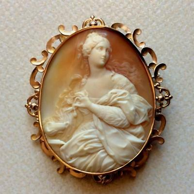 The Rarest Museum Quality Cameo Brooch Cleopatra Dissolving The Pearl, Layaway!