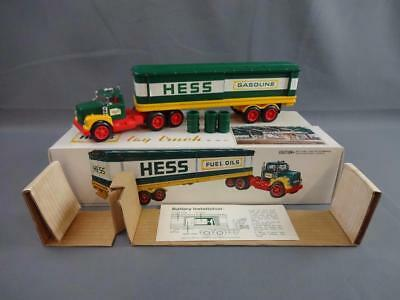 Vintage 1975 Hess Barrel Truck Complete Working w/Box Instructions & Inserts EX+