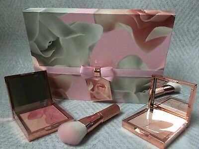 Ted Baker Blushing Bloom And Bronzing Collection With A Blusher Brush- Gift Set