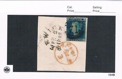 1840 GB Penny Blue Scott#2 (cut square),The second stamp in the world,very nice!