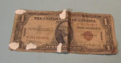 1935A Hawaii Overprint United States One Dollar Silver Certificate PC Block