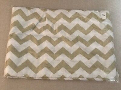 Brand New Beige And White Chevron Cotbed Valance  Sheet
