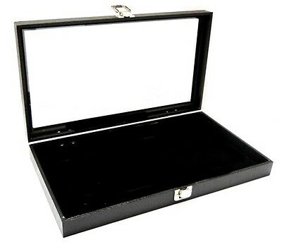 Glass Top Championship or Standard 51 Ring Collectors Showcase Display Case Box