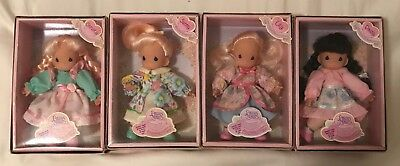 Set of 4 Precious Moments Friendship Garden Dolls – Christy, Sunny, Lily & Daisy