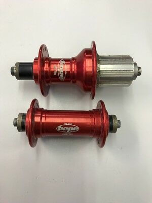 Hope Pro 3 Road Hubs Red 32h 8/9/10 Speed