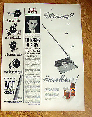 1950 Hires Root Beer Ad  Golfing Theme Putting on Green