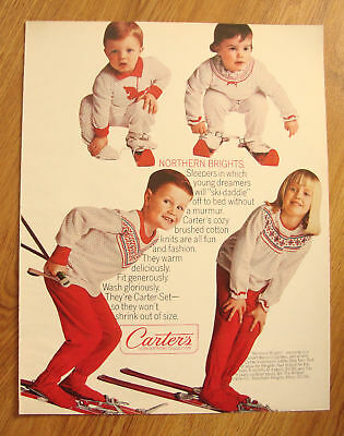 1965 Carter's Ad Northern Brights Skiing