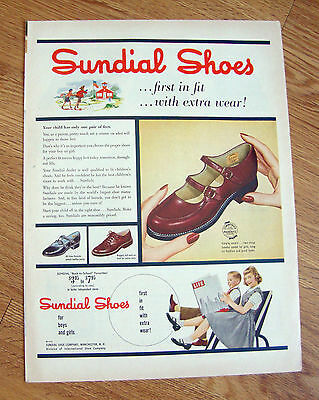 1953 Sundial Shoes Ad For boys & girls
