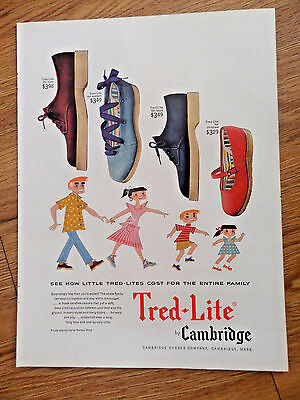 1954 Tred-Lite Shoes by Cambridge Ad