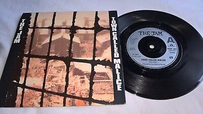 The Jam Uk Polydor Ps 45 Town Called Malice 1982    Ex
