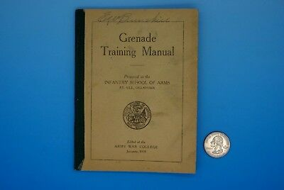 1918 Grenade Training Manual - Ww I - U.s. Infantry School Of Arms, Fort Sill
