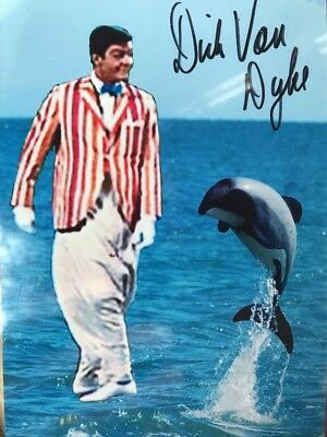 Dick Vam Dyke Mary Poppins Signed Autograph 4x6