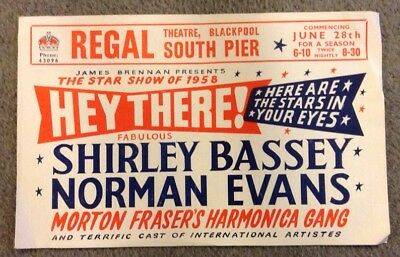 SHIRLEY BASSEY flyer REGAL THEATRE BLACKPOOL SOUTH PIER