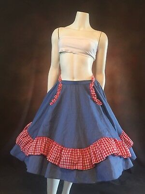 Halloween Square Dance Western Plaid Gingham Country Skirt Line Dancing Dorothy