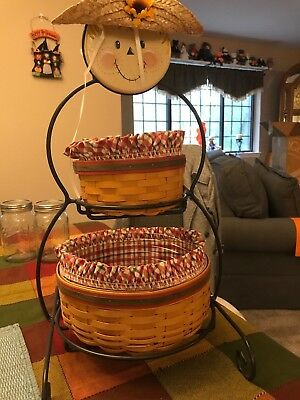 Longaberger Snowman Stand with basket combos