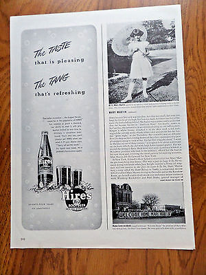 1943 Hires Root Beer Ad The Taste The Tang