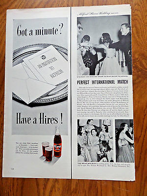 1950 Hires Root Beer Ad Invitation to Refresh