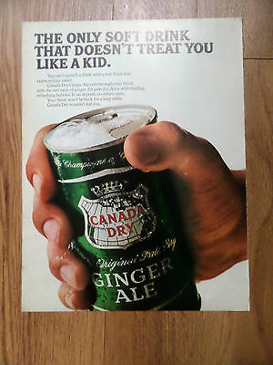 1966 Canada Dry Soda Pop Ad Ginger Ale