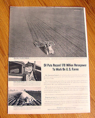 1951 Article Oil Ad  Oil Puts Record 178 Million Horsepower to work on US Farms
