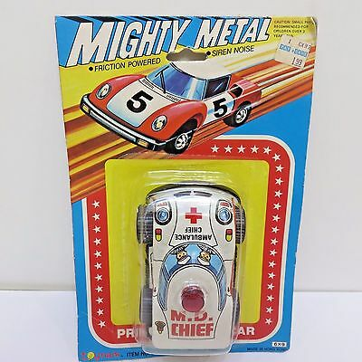 Mighty Metal Toy Car Toymark, Friction Powered Siren Noise MD CHIEF New in Pkg