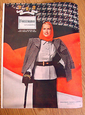1947 Forstmann 100% Virgin Wool Fashion Ad