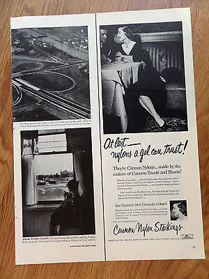 1952 Cannon Nylons Stockings Ad