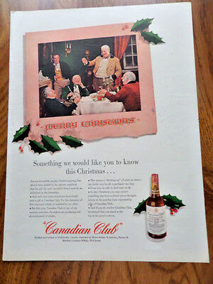 1943 Canadian Club Whiskey Ad Merry Christmas