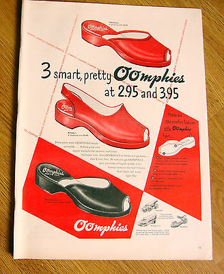 1948 OOMPHIES Shoes Ad