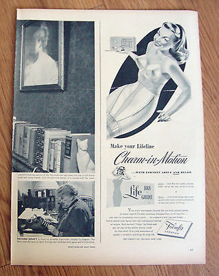 1946 Life Formfit Bra Girdle Ad Make Your Lifeline Charm-In-Motion