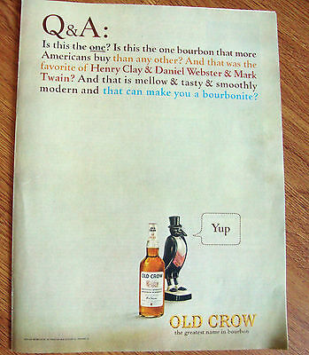 1964 Old Crow Whiskey Ad ! & A Is This the One?   Yup
