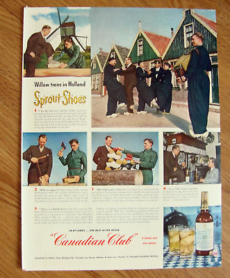1950 Canadian Club Whiskey Ad Holland Trees Shoes