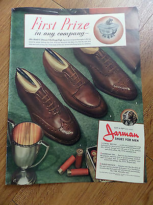 1940 Jarman Shoe Shoes for Men Ad  1st Prize The Field & Stream Challenge Cup