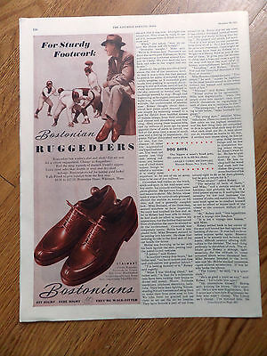 1945  Bostonians Shoes Ad Ruggediers   Football Theme