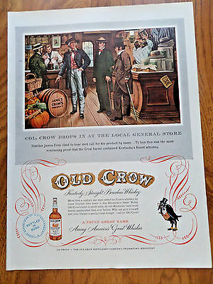 1952 Old Crow Whiskey Ad Col Drops in at General Store