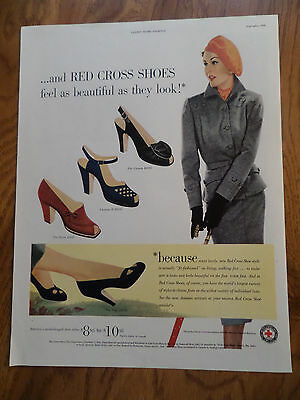 1950 Red Cross Shoes Ad