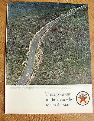 1963 Texaco Oil Ad Nobody sells Gasoline out here