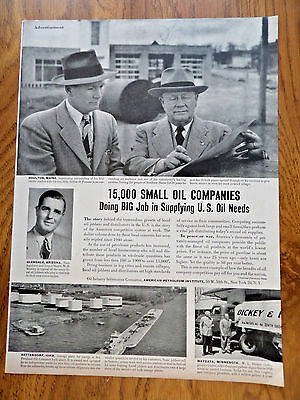 1951 American Petroleum Ad 15,000 Small Oil Companies Houlton Maine Wayxata MN