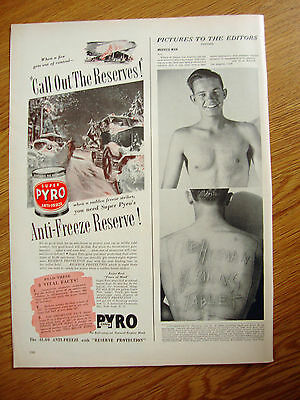 1941 Super Pyro Anti-Freeze Ad  Call out the Reserves