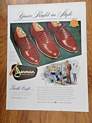 1951 Jarman Shoes Ad Needle-Craft Styles