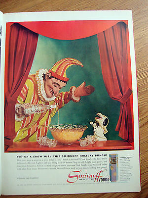 1960 Smirnoff Vodka Ad  Put on A Show with this Smirnoff Holiday Punch Puppet